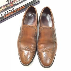 Allen Edmonds Dress Shoes Sapienza Cognac Brown 9